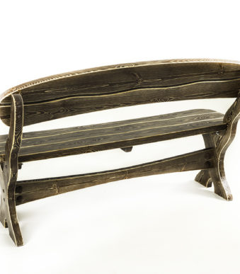 Скамейка 1500 Волна вид сзади